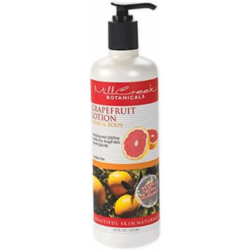 Mill Creek Botanicals Hand and Body Lotion, Grapefruit, 16 Fluid Ounce