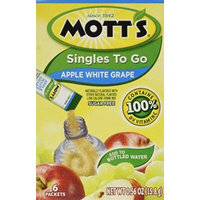 Mott's Singles-To-Go Suger Free Drink Mix Apple White Grape