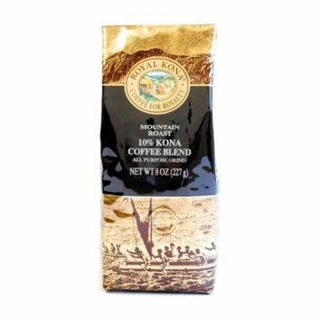 Royal Kona Mountain Roast 10% Kona Blend Ground Coffee - 3 / 8 Oz. Bag