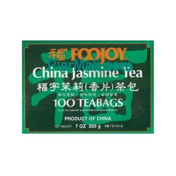 Foojoy Chinese Jasmine Green Tea - 100 Tea Bags (Pack of 1)
