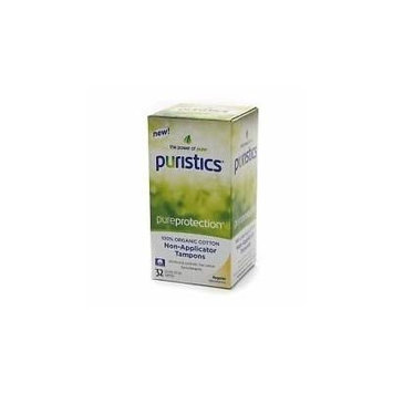 Puristics Pureprotection 100% Organic Cotton Tampons Regular Absorbency 16 Ct W Flushable Applicator
