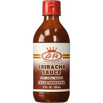 La Fe Colombian Sriracha Hot Chili Sauce 12 Oz