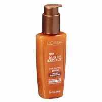 L'Oreal Paris Sublime Bronze Self-Tanning Serum, Medium Natural Tan 3.4 fl oz (100 ml) Pack of 2