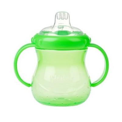Nuby 2 Handle Cup with Soft Spout, 7 Ounce, Green