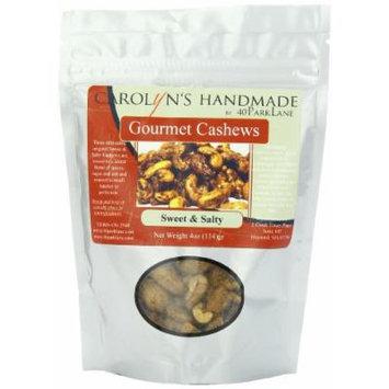 Carolyn's Handmade Gourmet Platinum Snack Bag, Sweet and Salty Cashews, 4 Ounce