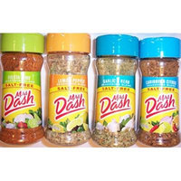Mrs. Dash Seasoning Blends Variety Flavor 4 Pack 2.5 oz - Caribbean Citrus - Garlic & Herb - Fiesta Lime - Lemon Pepper