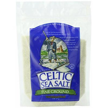 Celtic Sea Salt®, Fine Ground, 8 Ounce Resealable Bag, PACK OF 6