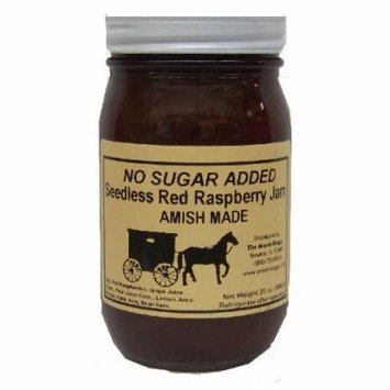 Amish Buggy No Sugar Added Raspberry Jam, Red, 16 Ounce (Pack of 12)