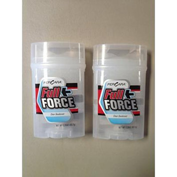 LOT OF 2! PerCara FULL FORCE Clear Deodorant 2.25 oz. EACH