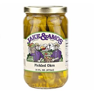 Jake & Amos Pickled Okra, 16 Oz. Jar (Pack of 2)