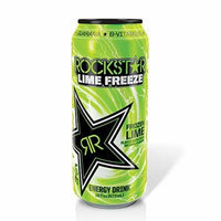 16 Pack - Rockstar Lime Freeze - Frozen Lime - 16oz.