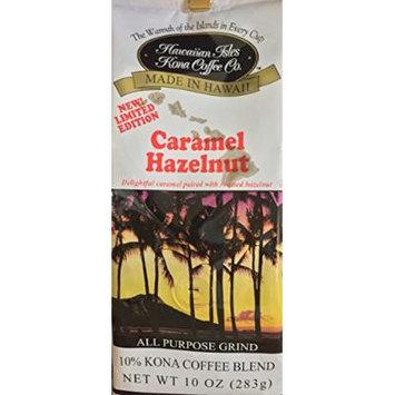 Hawaiian Isles Kona Coffee Co. Caramel Hazelnut Coffee 10 oz. Ground