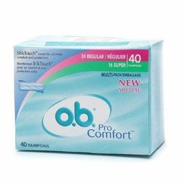 o.b. Pro Comfort Non-Applicator Tampons, Value Pack, Multi Pak 40 ea