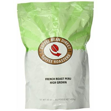 French Roast Peru, Whole Bean Coffee, 16-Ounce Bags (Pack of 3)