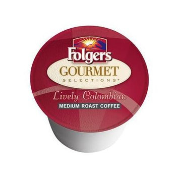 Folgers K cups lively columbian medium roast 40 cups