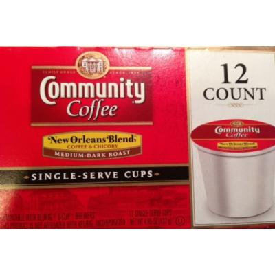 Community Coffee New Orleans Blend Coffee & Chicory 12 K-Cups