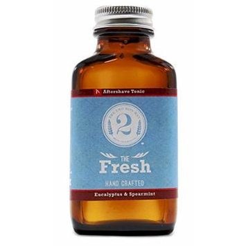 The Fresh Man Aftershave Tonic - Spearmint & Eucalyptus - Essential Oil Scented Aftershave by The 2 Bits Man (3 oz)