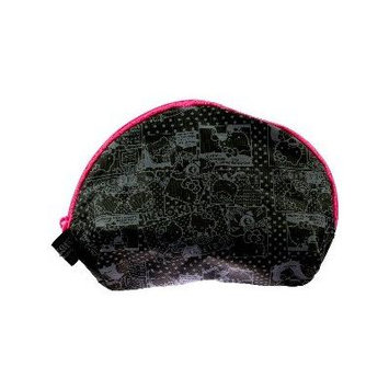 Hello Kitty Pouch Black & Gray - Round (9614)
