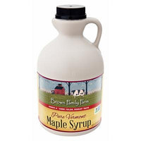 Brown Family Farm Maple Syrup, Pure Vermont Grade A, Dark Color, Robust Taste, 32 Fl Ounce