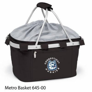 Connecticut University Digital Print Metro Basket Collapsible, insulated basket w/aluminum frame