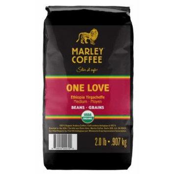 Marley Coffee, Organic Whole Bean Coffee, One Love, 2 Pound