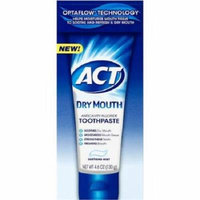 Act Dry Mouth Anticavity Fluoride Toothpaste, Soothing Mint, 4.6 Oz Pack of 6