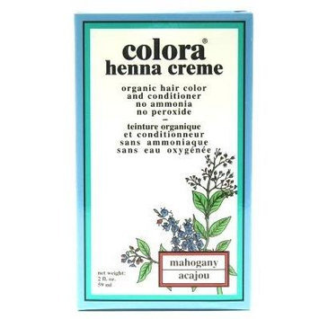 Colora Henna Creme Mahogany 2 oz. (3-Pack) with Free Nail File