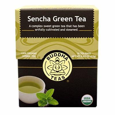 Sencha Green Tea - Organic Herbs - 18 Bleach Free Tea Bags