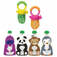 Munchkin Fresh Food Feeders with Squooshi Large Reusable Food Pouches
