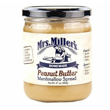 Mrs. Miller's Peanut Butter Marshmallow Spread, 17 Oz. (Pack of 2)