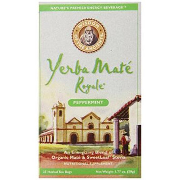 Wisdom of the Ancients Yerba Mate Royale Tea, Peppermint, 25 Tea Bags (Pack of 6)