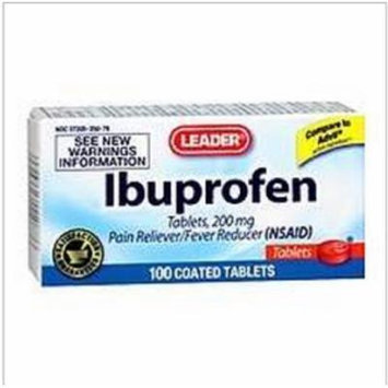 Leader Ibuprofen 200mg Tablets 100 Count (2 Pack)