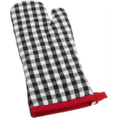 DII Just Grilling Oven Mitt Black and White Checkered