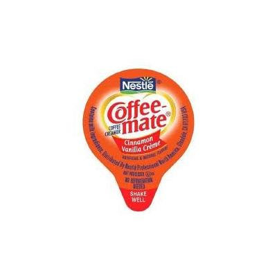 COFFEE MATE CINNAMON VANILLA CREAM LIQUID CREAMER 4-BOXES OF-50-COUNT-.38-OUNCE LIQUID CREAMERS (SPECIAL CLUB PACK)
