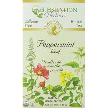 Celebration Herbals Organic Herbal Peppermint Leaf Bulk Tea -- 1.76 oz