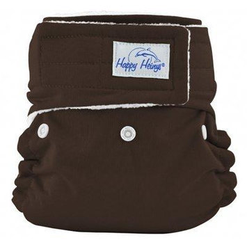 Happy Heinys ONE for ALL One Size Cloth Diaper with Hook & Loop Closure + 2 Microfiber Inserts (Mocha)