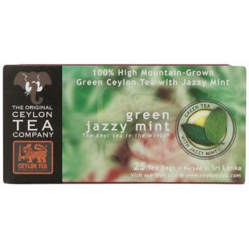 The Original Ceylon Tea Company, Green Jazzy Mint Tea, 25-Count Tea Bags (Pack of 6)