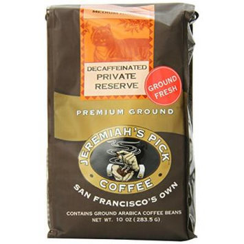 Jeremiah's Pick Coffee Private Reserve Decaf Ground Coffee, 10-Ounce Bags (Pack of 3)
