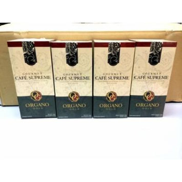 4 Boxes Organo Gold Gourmet Cafe Supreme with Ginseng Ganoderma Lucidum Extract + Free 4 Sachets Gano Excel Tongkat Ali Coffee