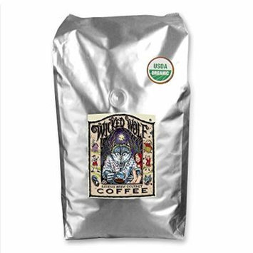 Raven's Brew Whole Bean Organic Wicked Wolf, Dark Roast 5-Pound Bag