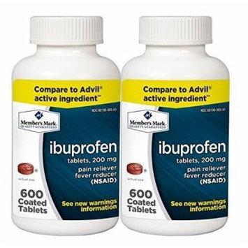 Members Mark Ibuprofen, 600 Tab, 200 mgs