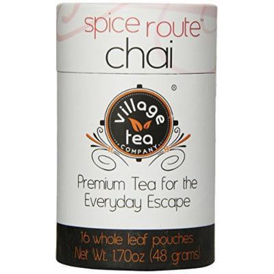 Village Tea Company Spice Route Chai Tea, 16-Count Biodegradable Pouches (Pack of 2)