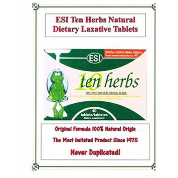 STAY REGULAR ESI Ten Herbs 100% Natural Herbal Blend America's BEST-America's SOLE IMPORTER 4-Pack(160ct)10% OFF + FREE SHIPPING AMAZON'S BEST PRICES!