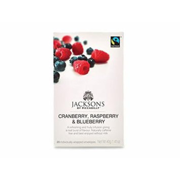 Jacksons of Piccadilly Cranberry, Raspberry & Blueberry Tea (20 Individually Wrapped Tea Bags)