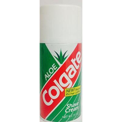 Colgate Shave Cream, Aloe - 11 oz