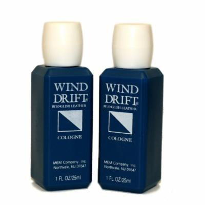 English Leather Wind Drift Cologne by Mem for Men. Cologne Splash 2 X 1.0 Oz / 2 X 30 Ml