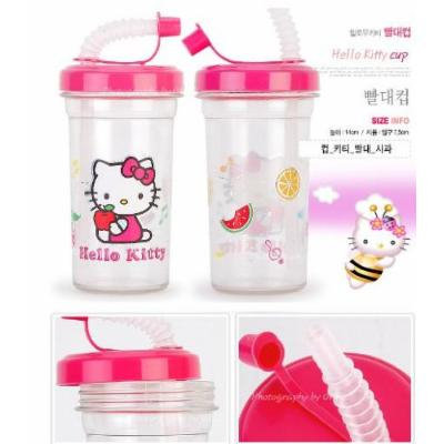 Hello Kitty Cup with Lid and Straw - approx 6