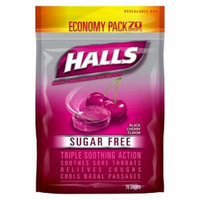 Halls Sugar Free Black Cherry Flavor Cough Drops - 70 Drops (Pack of 4)