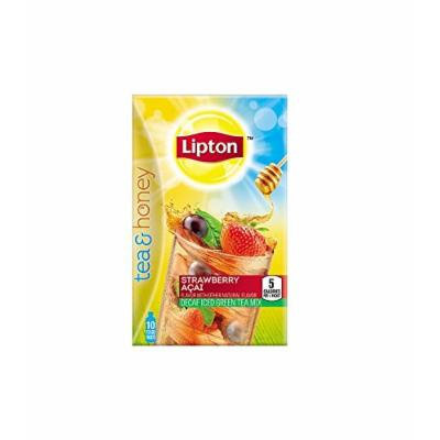 Lipton Tea & Honey To-Go Packets, Decaf Strawberry Acai Iced Green Tea 10 ea (Pack of 2)