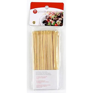 Good Living Set of 100 6-Inch Eco-Friendly Bamboo Skewers for Kabobs and Appetizers, 1-Pack